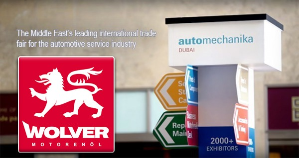 "Wolver Lab at the international exhibition ""Automechanika 2016"" in Dubai (UAE)."